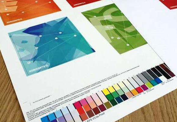 image showing print collateral produced by custom logos