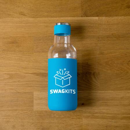 image of a water bottle with a custom logo