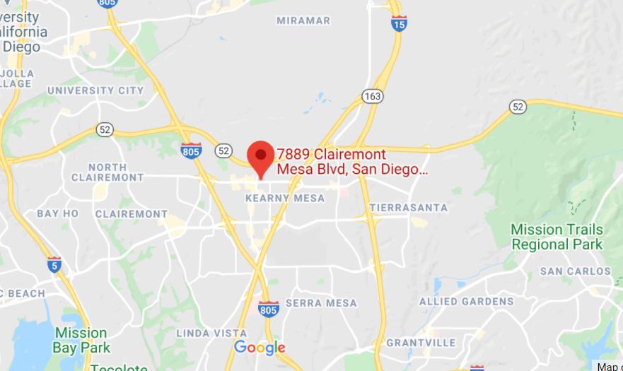 map showing custom logos san diego location