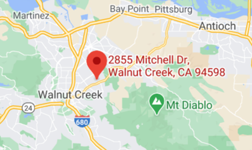map showing custom logos walnut creek location, formerly apropos promotions
