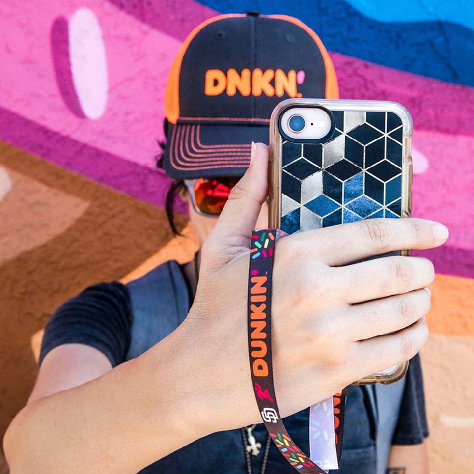 image of dunkin branded swag, a promotional products example