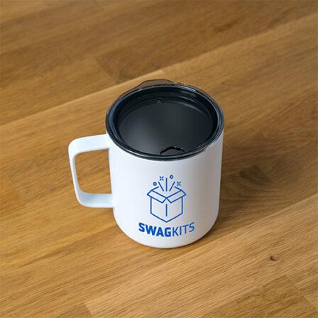 image of a mug customized with a company logo