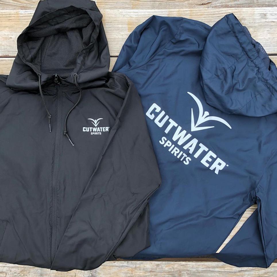 image of custom screenprinted jacket produced in-house by custom logos