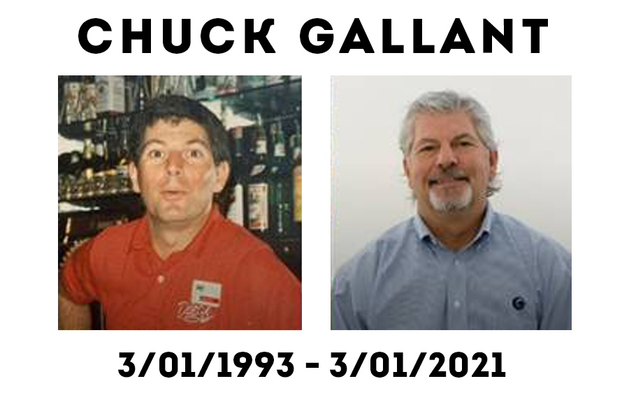 chuck in 1993 and today in 2021