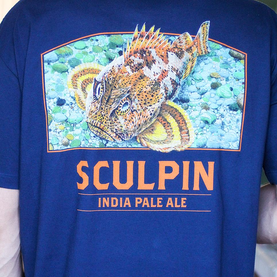 image of custom screenprinted shirt produced in-house by custom logos